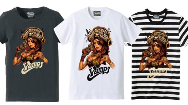 VAMPS Rockin' Jelly Bean コラボ Tシャツ L サイズ ロッキン