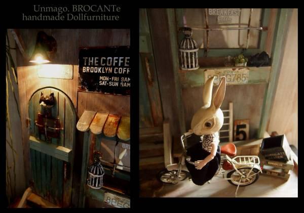 ドールハウス*NYBrooklyn路地裏猫CAFE/ドール家具ブライス/オビツ11/momoko_画像2