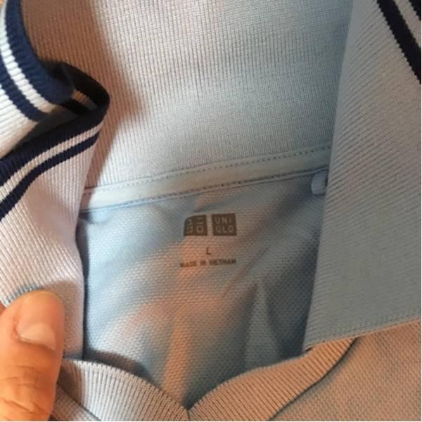 50円スタート! ユニクロ UNIQLO 半袖シャツ ブルー 美品 激安_画像2