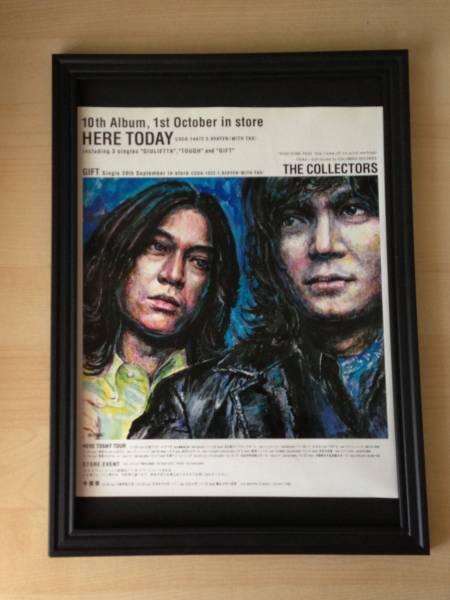 コレクターズ HERE TODAY 額装品 広告 ポスター THE COLLECTORS CD DVD アルバム ライブ コンサート