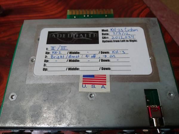 《値下げ最終》レア品!! Randall MTS Module Jaded Faith Mods KH-23 入手困難 メタリカ KIRK HAMMETT 幅広いサウンド クリーン~激歪み