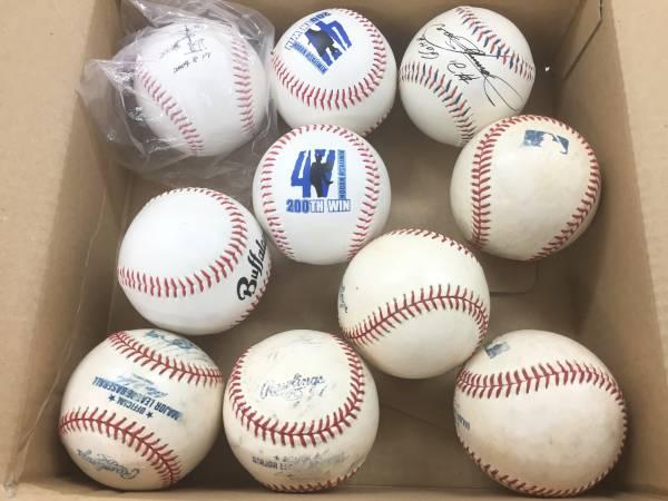 メジャーリーグ ゲーム使用済み ボール5個+おまけボール5個 実使用 記念ボール まとめて V62 コンサートグッズの画像