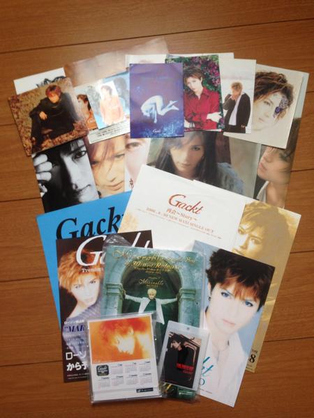 Gackt ガクト Dears グッズ ポスター ポストカード シール ステッカー カレンダー チラシ 雑誌付録 非売品物 告知 CDホルダー ライブグッズの画像