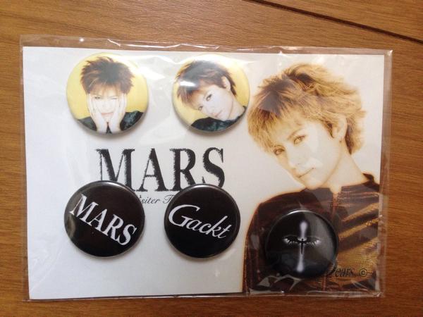 Gackt ガクト Mars ライブ ツアーグッズ 缶バッジ 限定品 公式 コンサート レア 新品・未使用 ライブグッズの画像