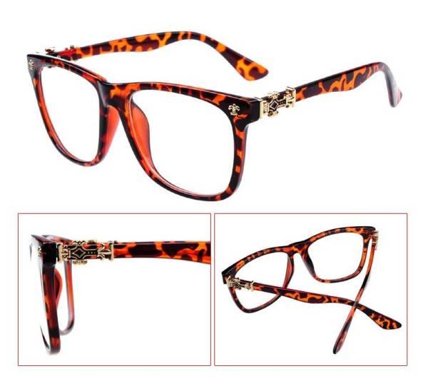 ファッション メガネ めがね イメージチェンジ 変装 豹柄 メガネ 眼鏡 クリア 花粉 コロナウイルス飛沫 保護 防御 伊達_画像1