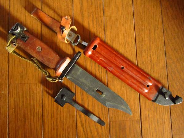 ソ連軍 6kh4 (6Х4) 銃剣 ラバーブレード バヨネット AKM AK74 ⑤ ソビエト ロシア_画像3