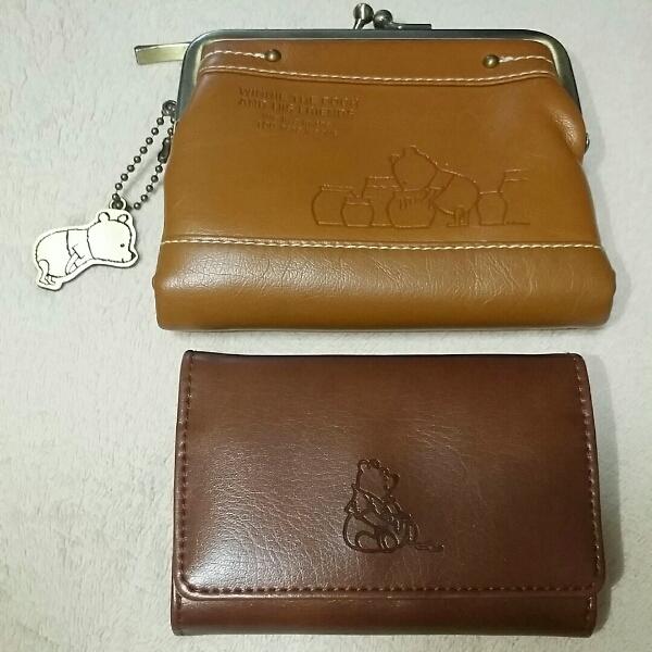 美品 くまのプーさん 財布&カードケースセットWinny the pooh