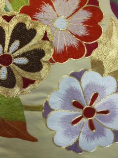 着物お仕立て 手縫い 振袖 手刺繍_画像2