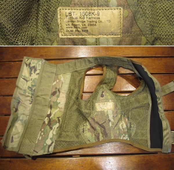 実物 未使用 LBT-1608K-9 Tactical K-9 Harness ドッグハーネス Multicam マルチカム 特殊部隊_画像3