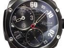 アルピナ■ALPINA レギュレーター文字盤 ユニタス手巻き■メンズ腕時計 極美品