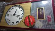 (動作OK) 貴重なデットストック 愛知時計 アイクロン トランジスター掛時計 (動画有!)  昭和レトロ 柱時計 未使用品 アンティーク