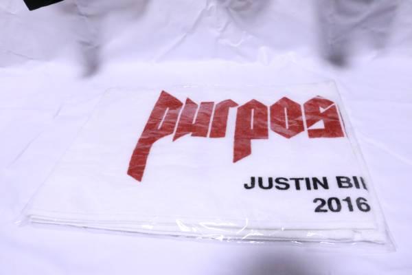 新品 ジャスティンビーバー purpose tour マフラータオル ライブグッズの画像