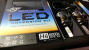 【中古 完全動作】スフィアライト 車検対応 LED 変換キット H4 ホワイト 6000K 簡単取付! 付属品あり