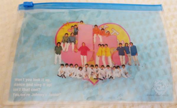 Johnny's Jr. クリアケース 2000年頃 ジャニーズジュニア 滝沢秀明 「J」の上に錦戸亮 関ジャニ ☆送料無料☆