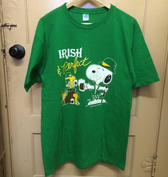 レア SNOOPY IRISH ビンテージ Tシャツ PABLO カニエ NIRVANA RAP TEE L ライブグッズの画像