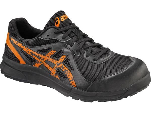 アシックス 安全靴 FCP106 25.5cm ブラック×オレンジポップ 新品 税込