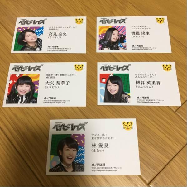 ベイビーレイズ JAPAN 自虎紹介 各メンバー名刺 5枚セット 希少