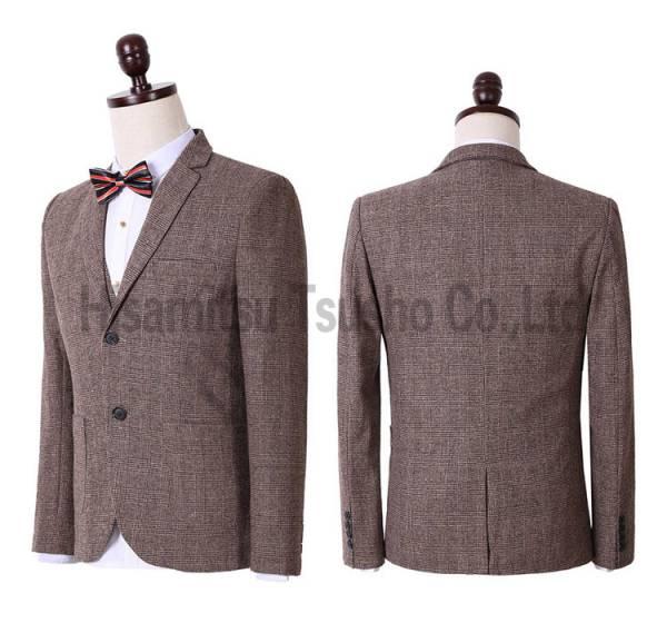 舞台衣装 コーヒー スーツ 礼服(3点セット) フォーマル M-3XL 声楽 演出 結婚 司会者 撮影用 GT03013_画像3