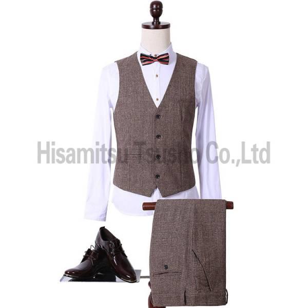 舞台衣装 コーヒー スーツ 礼服(3点セット) フォーマル M-3XL 声楽 演出 結婚 司会者 撮影用 GT03013_画像2
