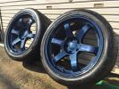 希少サイズ! レイズ RAYS TE37 9J+10 GT-Rサイズ フェデラル595RS-RR 265/35 9部山 2本セット GT-RシルビアZランエボRX-7等に!