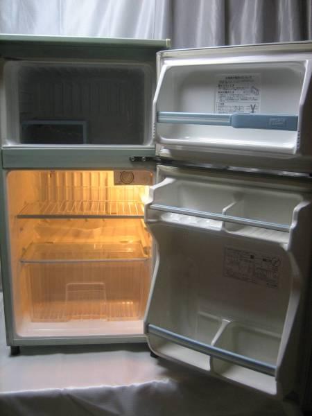 最近見かけない希少色!超希少☆ 松下電器産業 National ナショナル電気冷蔵庫 NR-M8A-GP ☆1988年1-6月製 29年使っても壊れない冷凍冷蔵庫!_画像3