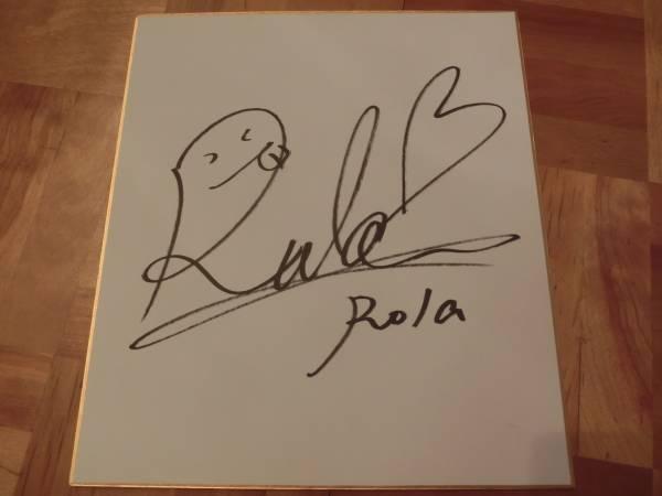 貴重 ◆ ローラ ◆ 直筆サイン入り色紙 / モデル ViVi バイオハザード・ザ・ファイナル