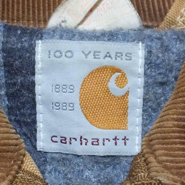 Carhartt/カーハート100周年★中古品★ブラウンダック裏ブランケット付き デトロイトジャケット アメリカ製 _画像2