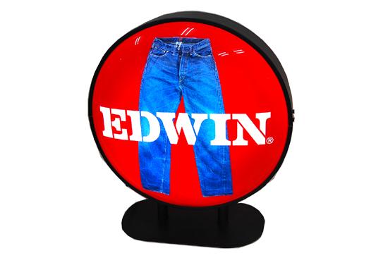 希少 EDWIN/エドウィン 店頭販促品 電飾 看板 レア 札幌_画像1