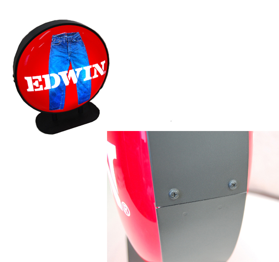 希少 EDWIN/エドウィン 店頭販促品 電飾 看板 レア 札幌_※左上画像は裏面です。
