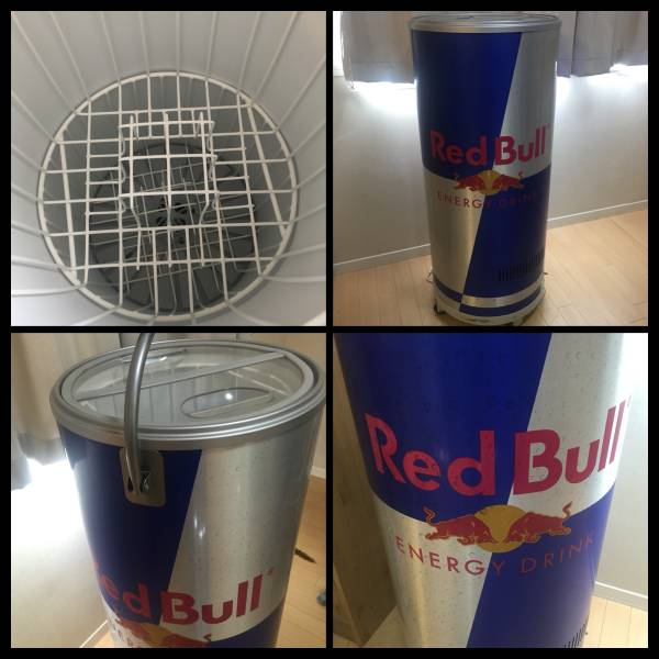 Classy working good rare not for sale Red Bull REDBULL energy drink promotion promotion for home power, refrigerated showcase, Refrigerator, novelties, corporate logo promotion for