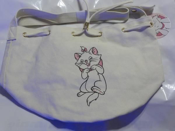 おしゃれキャットマリー 巾着バッグ マリーちゃん 未使用品 ディズニーグッズの画像