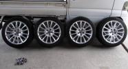 ボルボ V70 T5スポーツ純正 アルミホイール タイヤ 4本セット SB5234W/SB5244W 綺麗な中古 バリ溝タイヤ 225/45ZR17 7.5J off49 ピッチ108