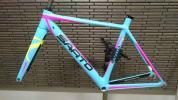 美品 SARTO DINAMICA サルト ダイナミカ フルカーボン カスタムオーダー フレーム イタリア製 XS ロードバイク ブルー 青 カンパニョーロ