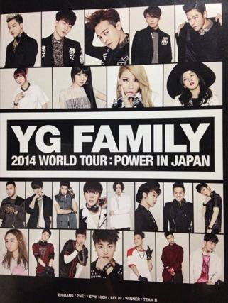YG FAMIRY CONCERT 2014 POWER IN JAPAN BIGBANG WINNER 2NE1 ライブグッズの画像