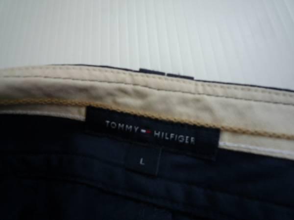 【お買い得!】 ■ TOMMY HILFIGER ■ コットンパンツ ネイビー 無地 L_画像3