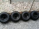 バギー タイヤホイール4本セットほぼ新品!8インチ オフロードタイヤ ホイール部に傷あり 1本エアバルブ交換済
