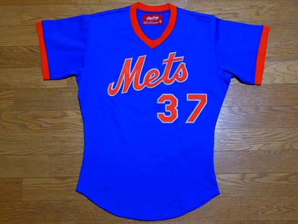ニューヨーク メッツ Mets 1980 Rawlings #37 BP Jersey バッティング ジャージMLBユニフォーム ローリングス グッズの画像