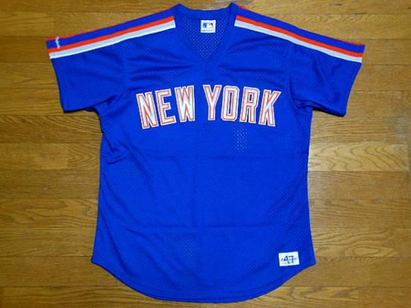 ニューヨーク メッツ Mets 1988 92 Majestic Road BP Jersey ロード バッティング ジャージMLBユニフォーム グッズの画像