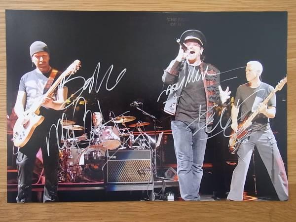 U2 直筆サイン入り写真  証明書付