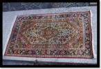玄関マット ペルシャ絨毯 織物 シルク 絹