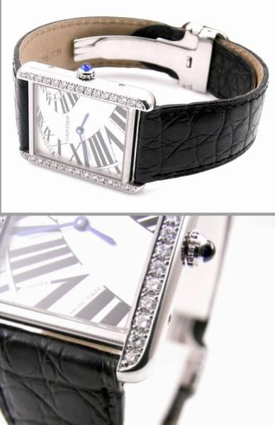 Cartier カルティエ タンクソロ LM ケース アフターダイヤ加工します カスタム アニメーション文字盤 W5200017 サントス タンクアメリカン_画像2