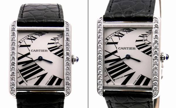 Cartier カルティエ タンクソロ LM ケース アフターダイヤ加工します カスタム アニメーション文字盤 W5200017 サントス タンクアメリカン_画像3