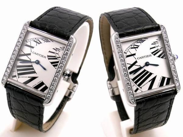 Cartier カルティエ タンクソロ LM ケース アフターダイヤ加工します カスタム アニメーション文字盤 W5200017 サントス タンクアメリカン_画像1