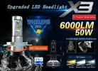 6000LM H4 送料は無料 PHILIPSバルブ H4 LEDヘッドライト Hi/Lo 6500K 12000LM 角度調整OK シグナスx FZ6S RZ250 TRX850 YZF-R1/R6