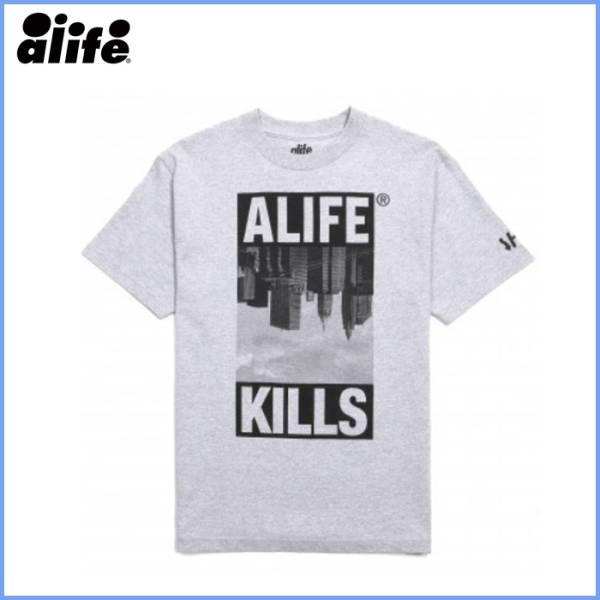 【40%OFF】 ALIFE SKYLINE Tシャツ グレー L
