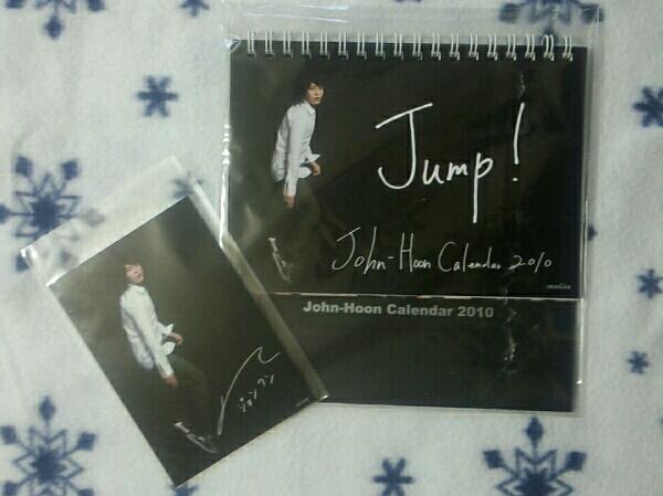 John-Hoon*Jump! Calendar 2%*2010*特典生写真付き*未使用品