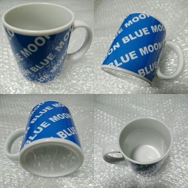 激レア!★【BLUE MOON BLUE】ブルームーンブルー 非売品 マグカップ 渋谷109 ノベルティ グッズ 陶器製 海 サーフ 希少 貴重 入手困難品