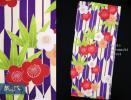 夢千代 卒業式に 女性 矢絣の二尺袖 単品 YCN-7 紫