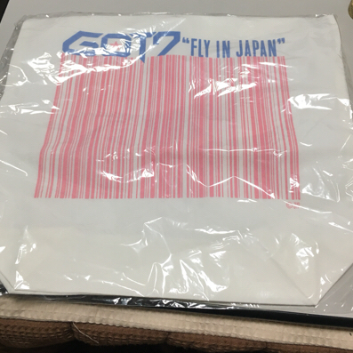GOT7 ホワイト トートバッグ ライブグッズの画像