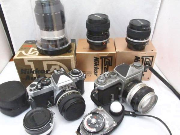 145☆ニコン ジャンク扱 FE NIKKOR 50mm 1.8/F 1.4 50mm/NIKKOR-Q AUTO 135mm 3.5/ZOOM 35-70mm 3.3-4.5/24mm 2.8